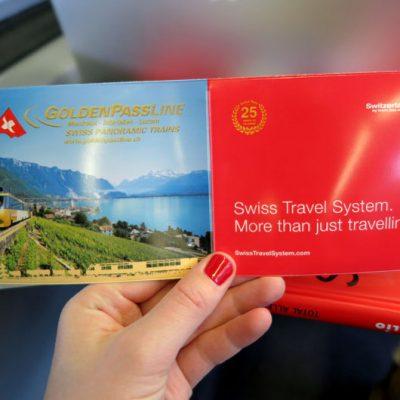 Wir reisen mit dem Swiss Travel Pass..