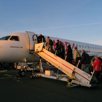 Early Bird: Für uns ging es in den frühen Morgenstunden mit Air France…
