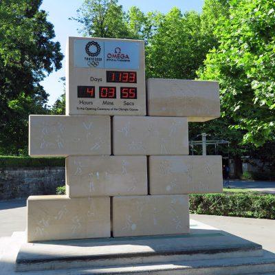 Die Olympische Uhr: Der Countdown zu den nächsten Olympischen Spielen läuft.